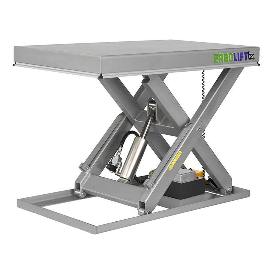 Stainless steel scissor lift table
